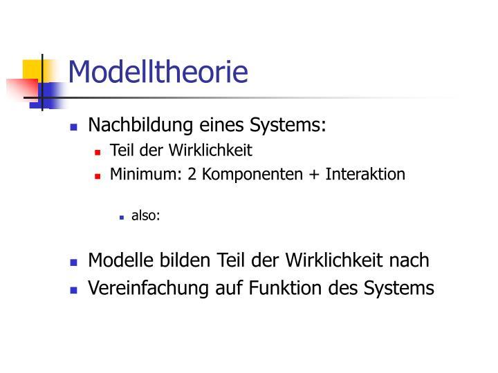 Modelltheorie