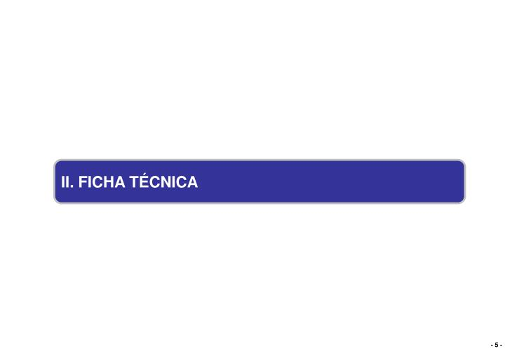 II. FICHA TÉCNICA