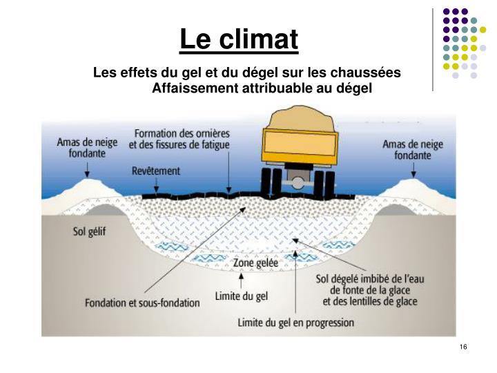 Les effets du gel et du dégel sur les chaussées