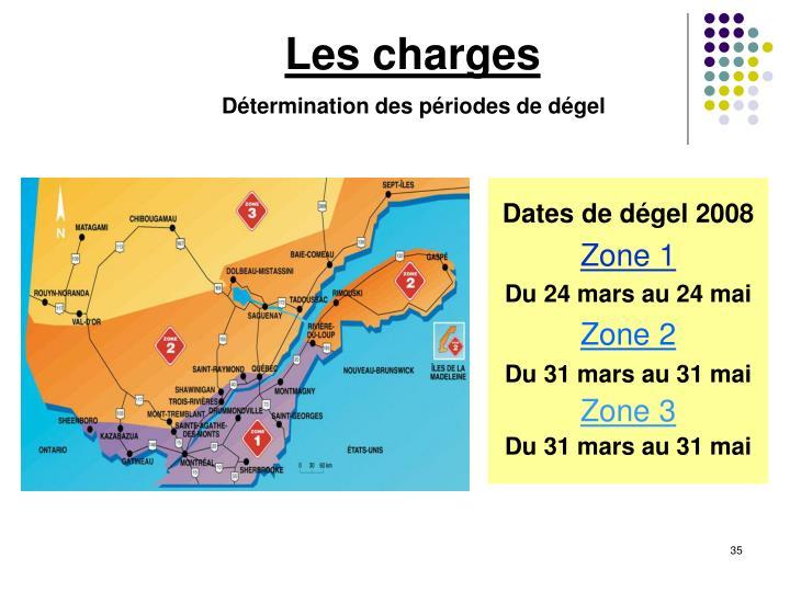 Dates de dégel 2008