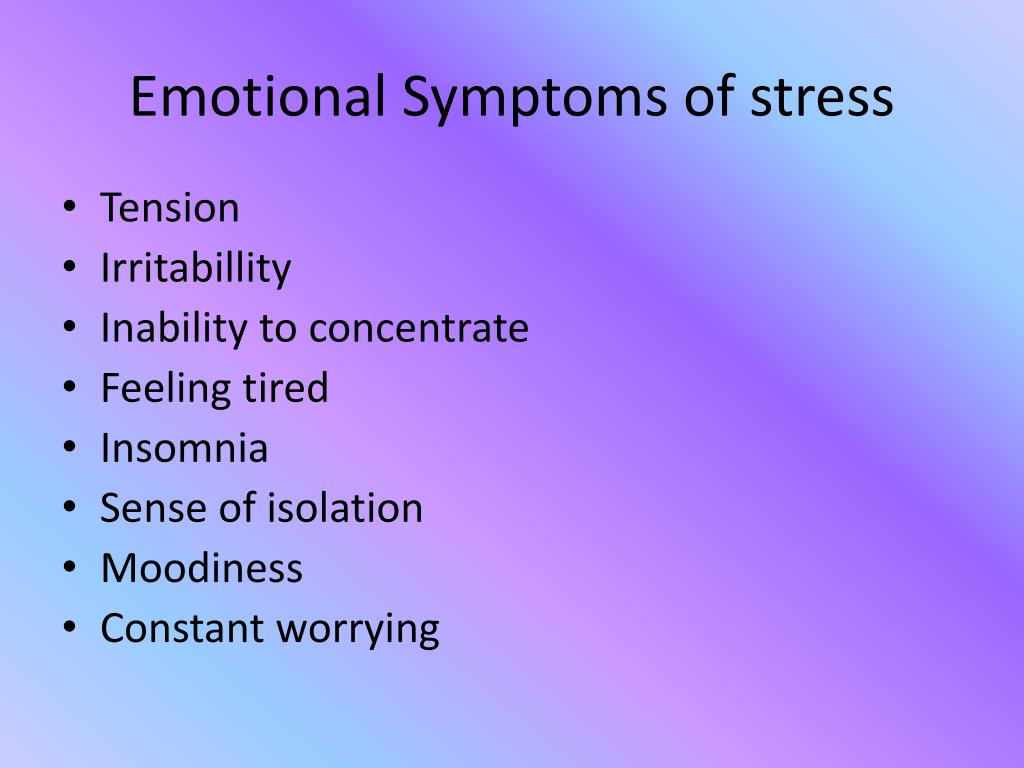 Emotional Symptoms of stress