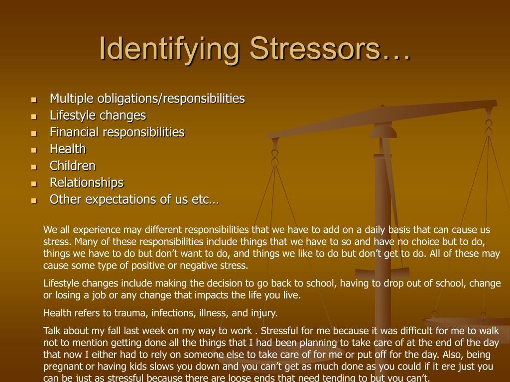 Identifying Stressors…