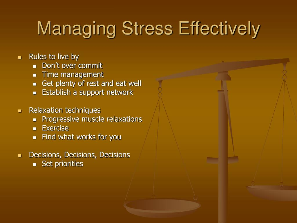 Managing Stress Effectively