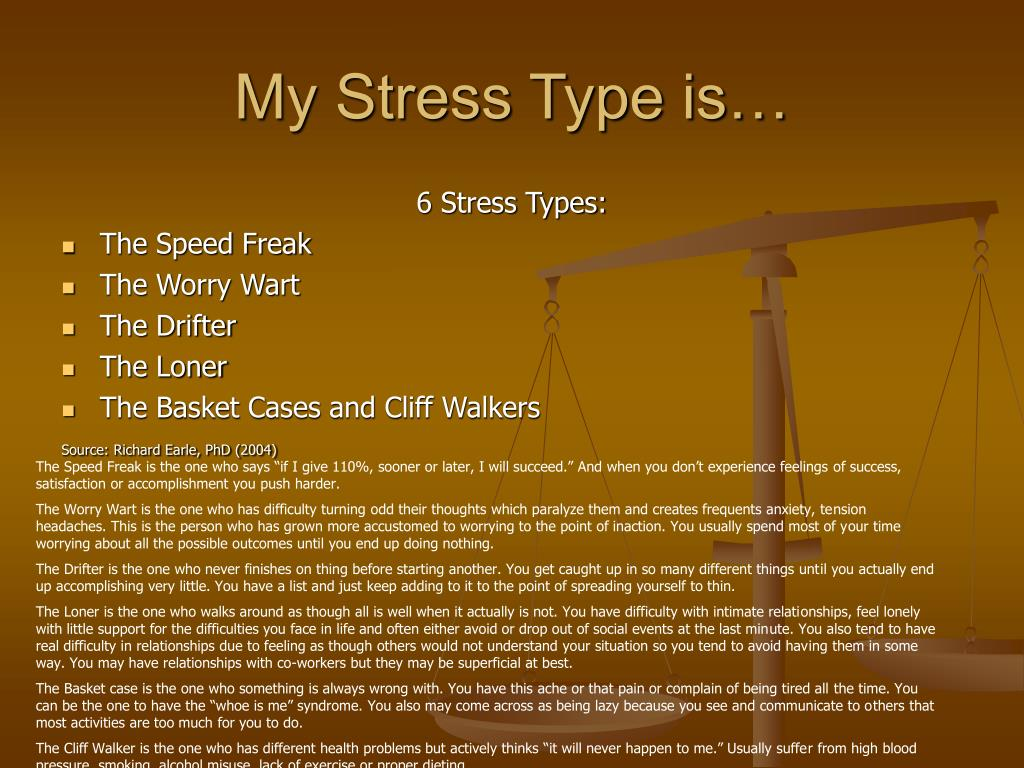 My Stress Type is…