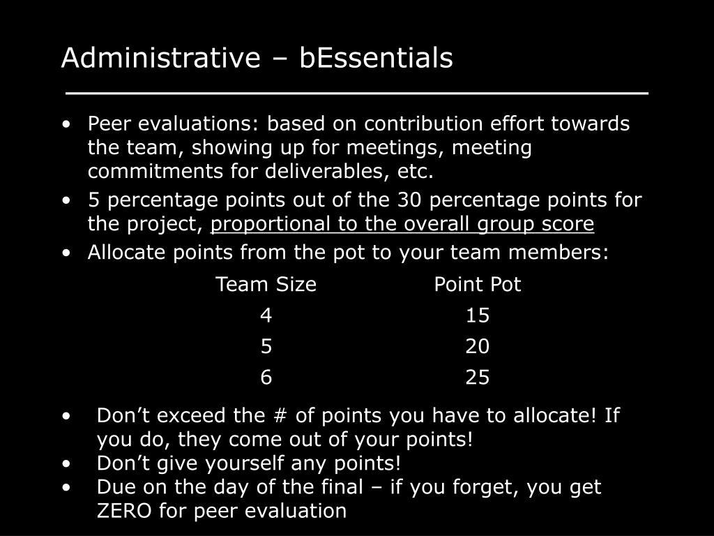 Administrative – bEssentials