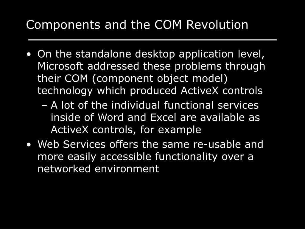 Components and the COM Revolution