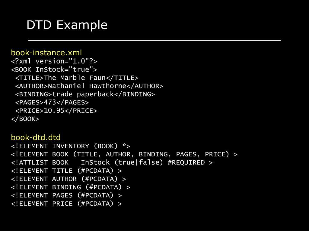 DTD Example