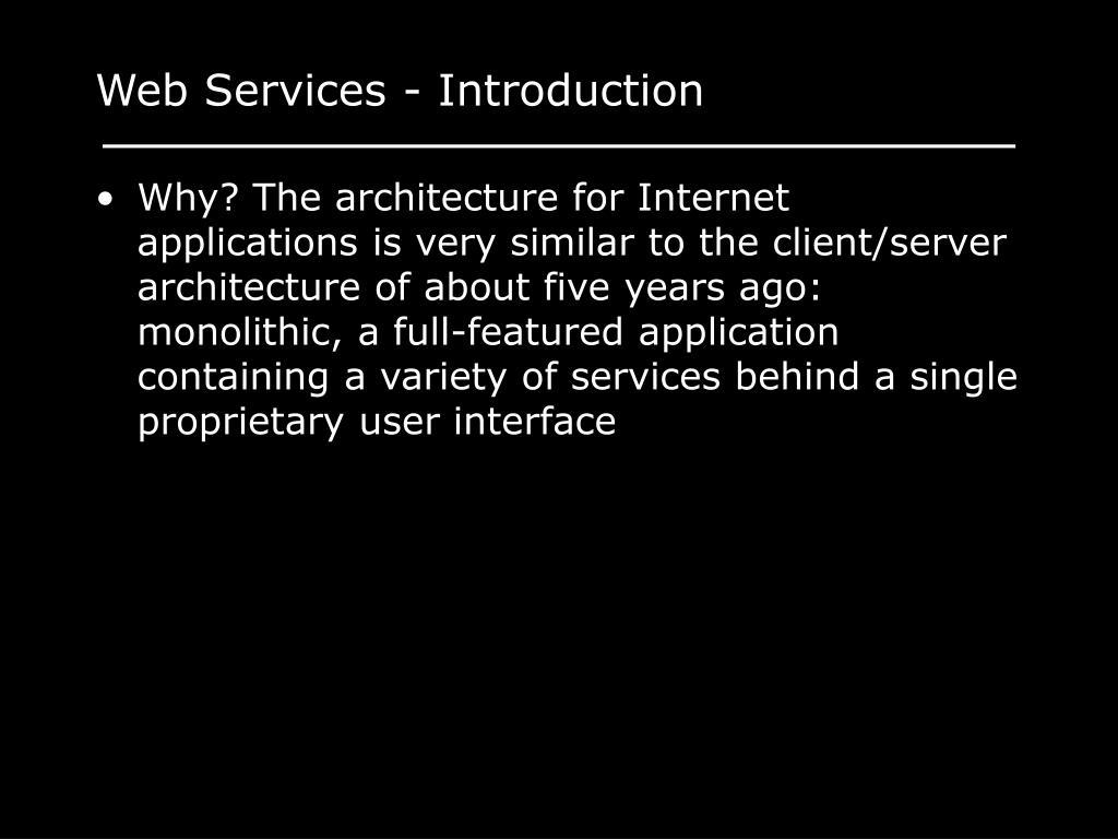Web Services - Introduction
