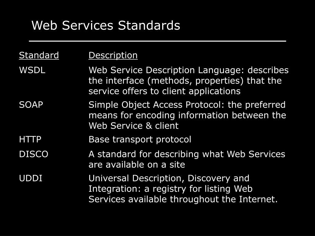 Web Services Standards