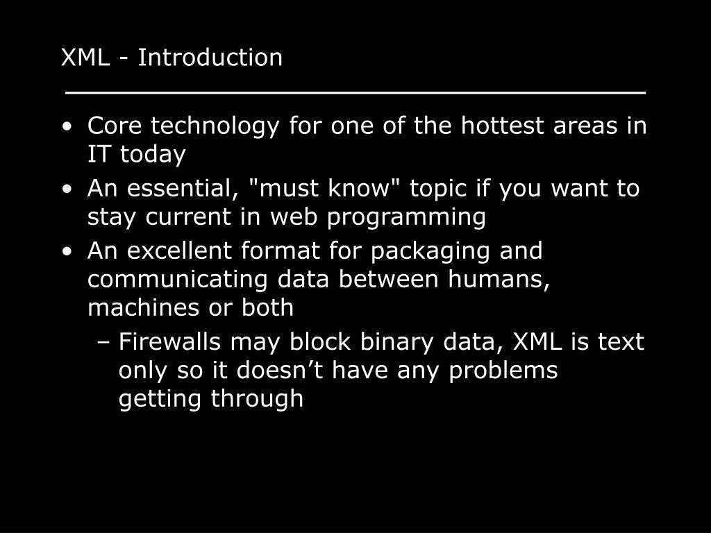 XML - Introduction
