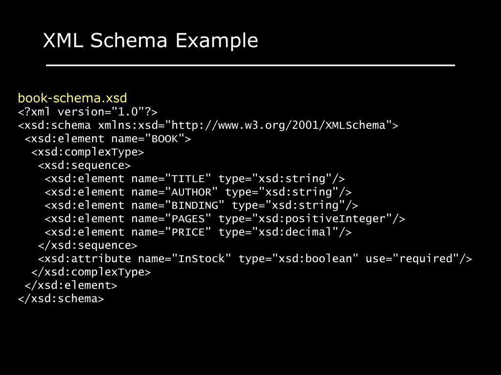 XML Schema Example