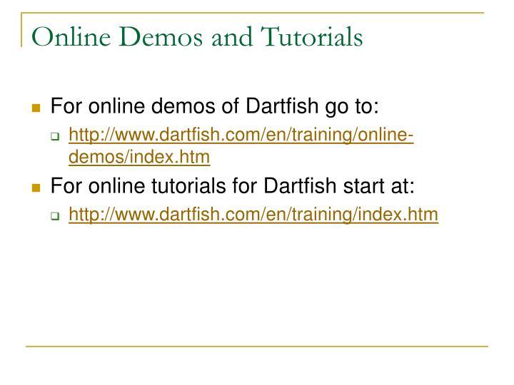 Online Demos and Tutorials