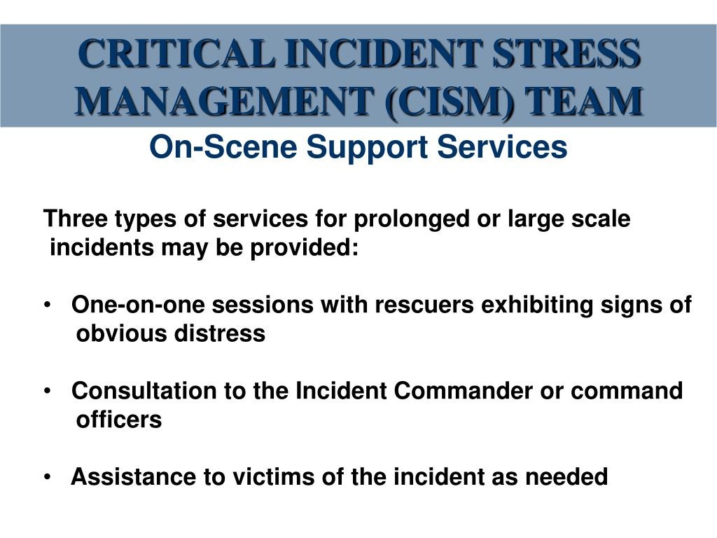 crtitical incident 1 critical incident stress debriefing (cisd) jeffrey t mitchell, phd diplomate american academy of experts in traumatic stress and clinical professor of emergency health services.