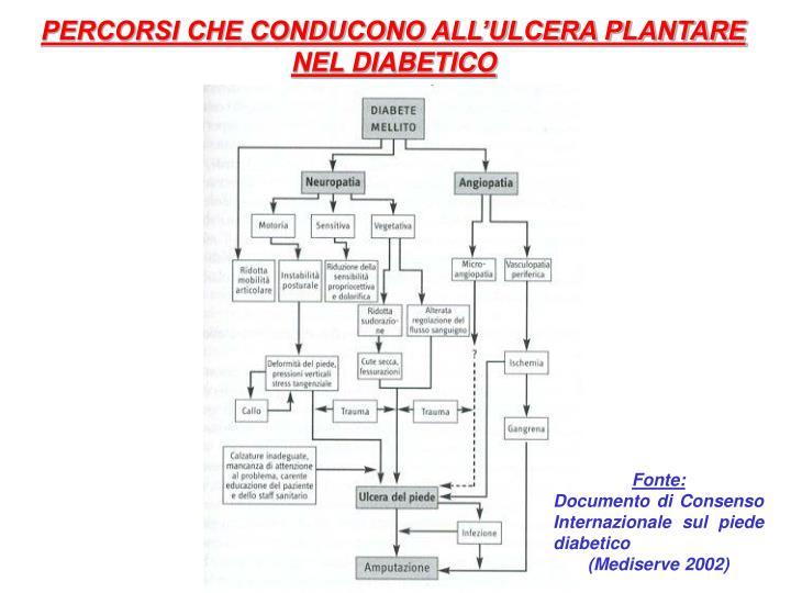PERCORSI CHE CONDUCONO ALL'ULCERA PLANTARE