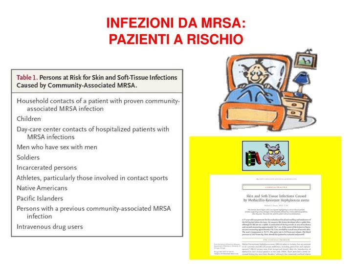 INFEZIONI DA MRSA: