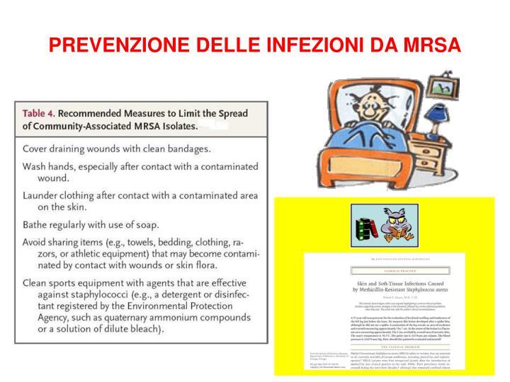 PREVENZIONE DELLE INFEZIONI DA MRSA