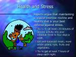 health and stress