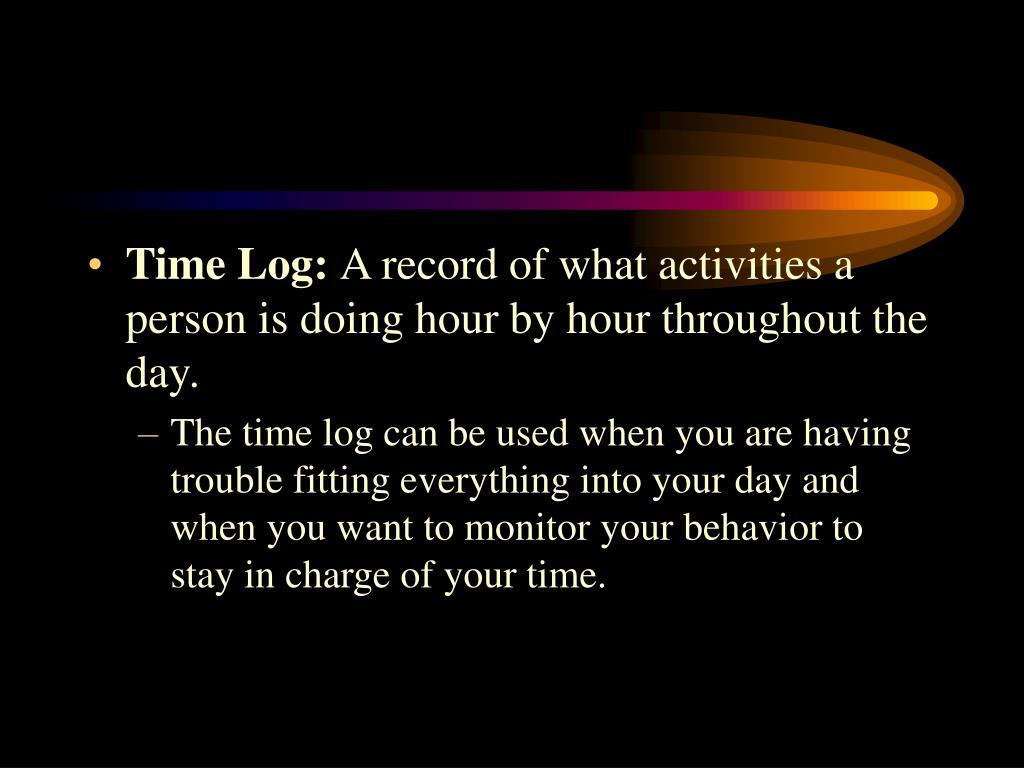 Time Log: