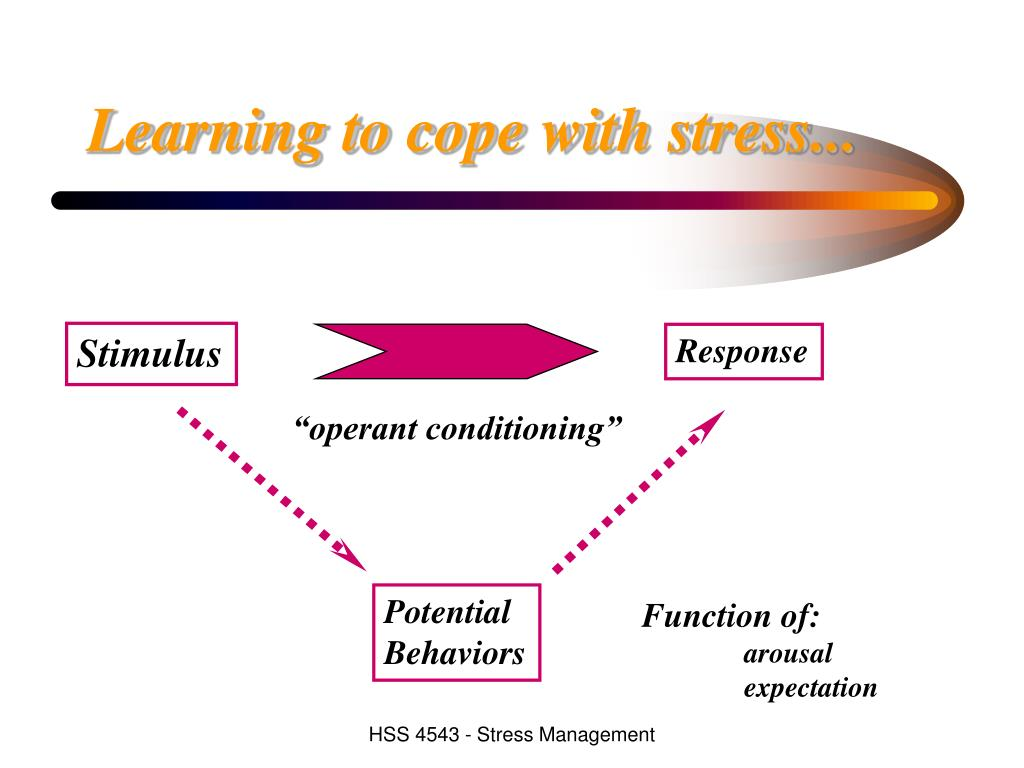 Learning to cope with stress...