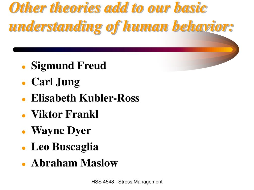 Other theories add to our basic understanding of human behavior: