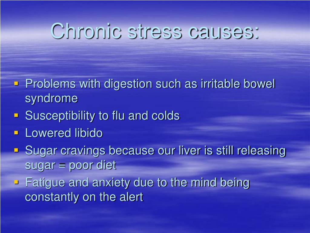 Chronic stress causes: