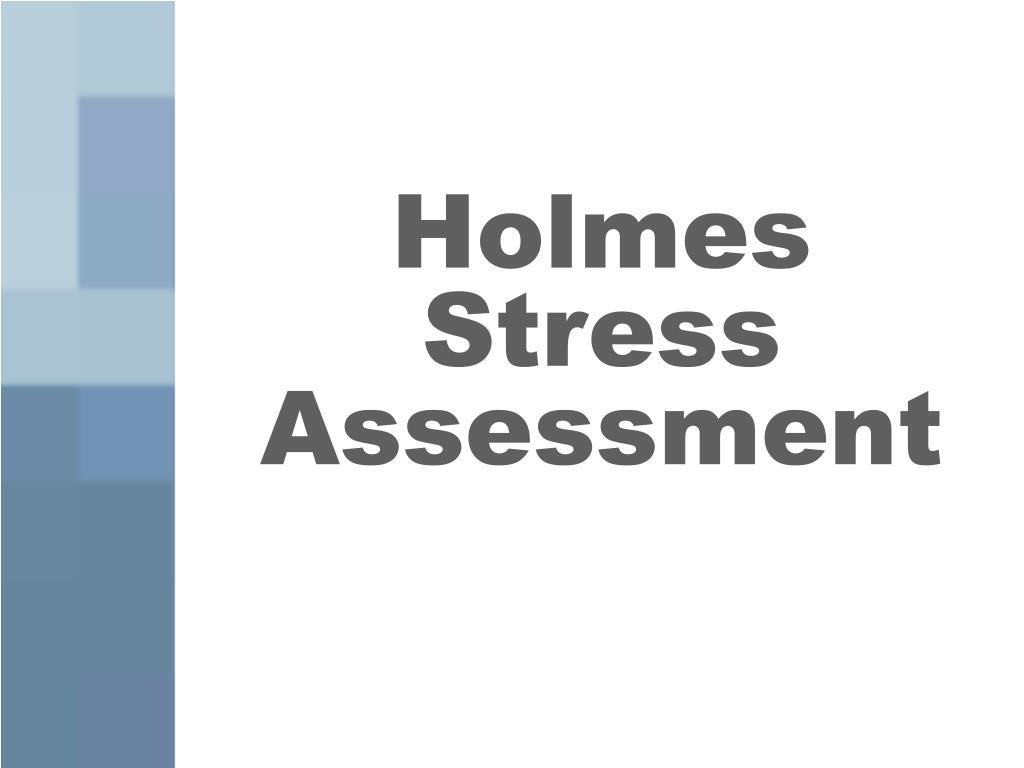 Holmes Stress Assessment