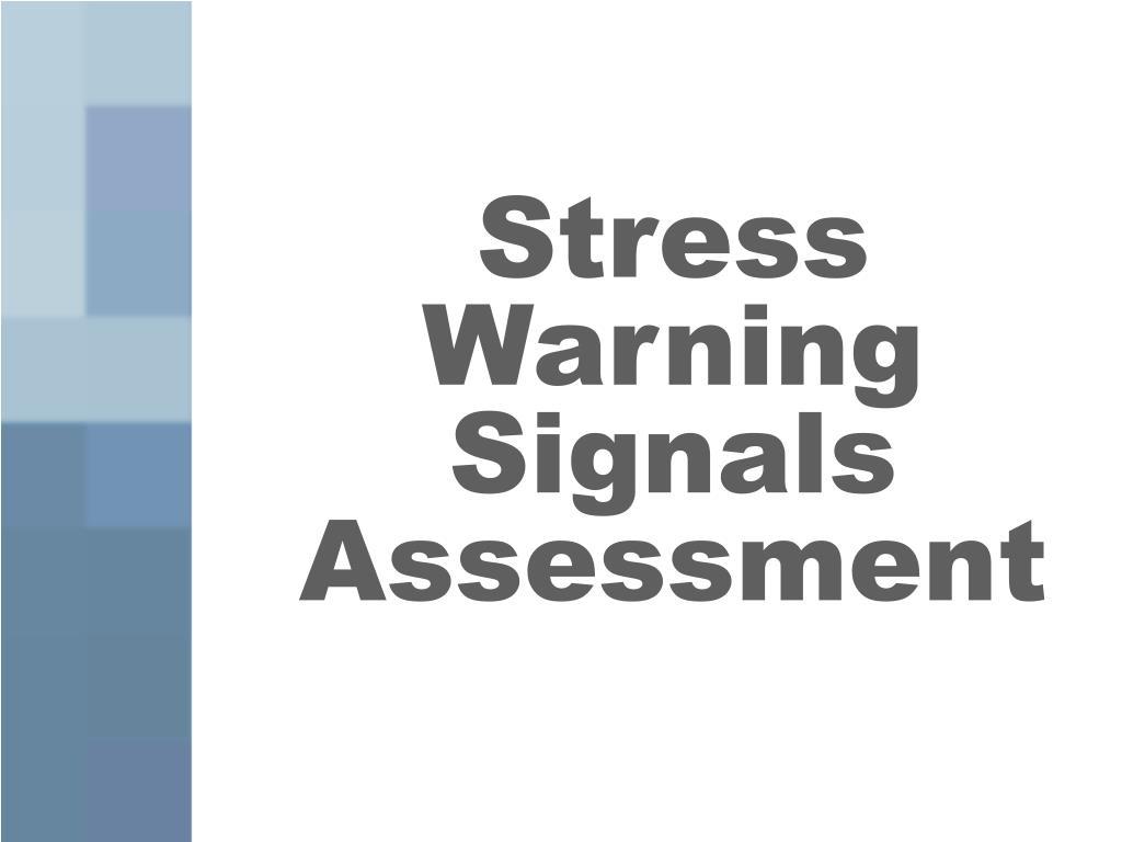 Stress Warning Signals Assessment