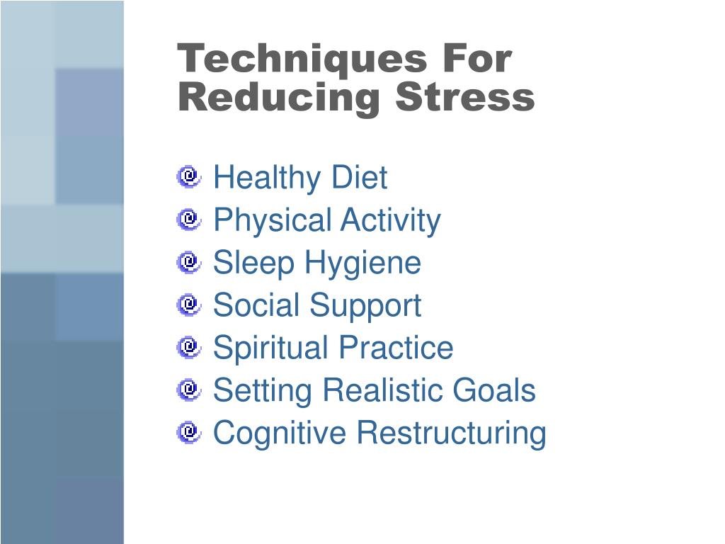Techniques For Reducing Stress