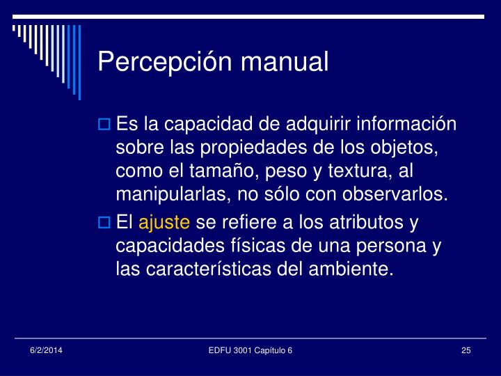 Percepción manual