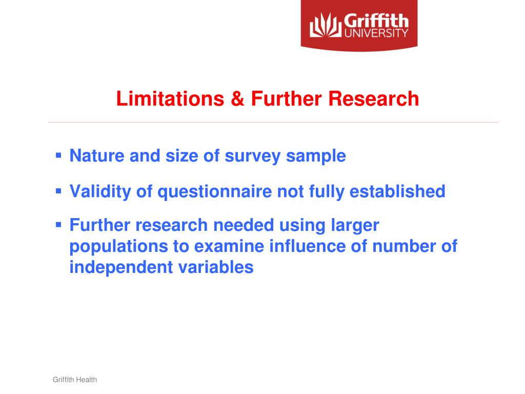Limitations & Further Research