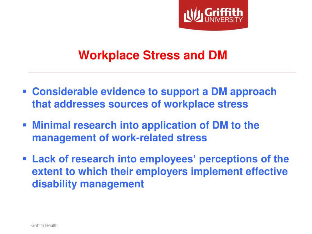 Workplace Stress and DM