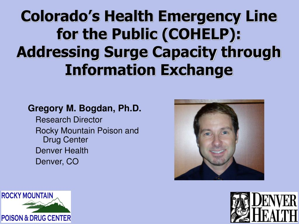 Colorado's Health Emergency Line for the Public (COHELP):