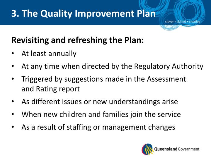 3. The Quality Improvement Plan