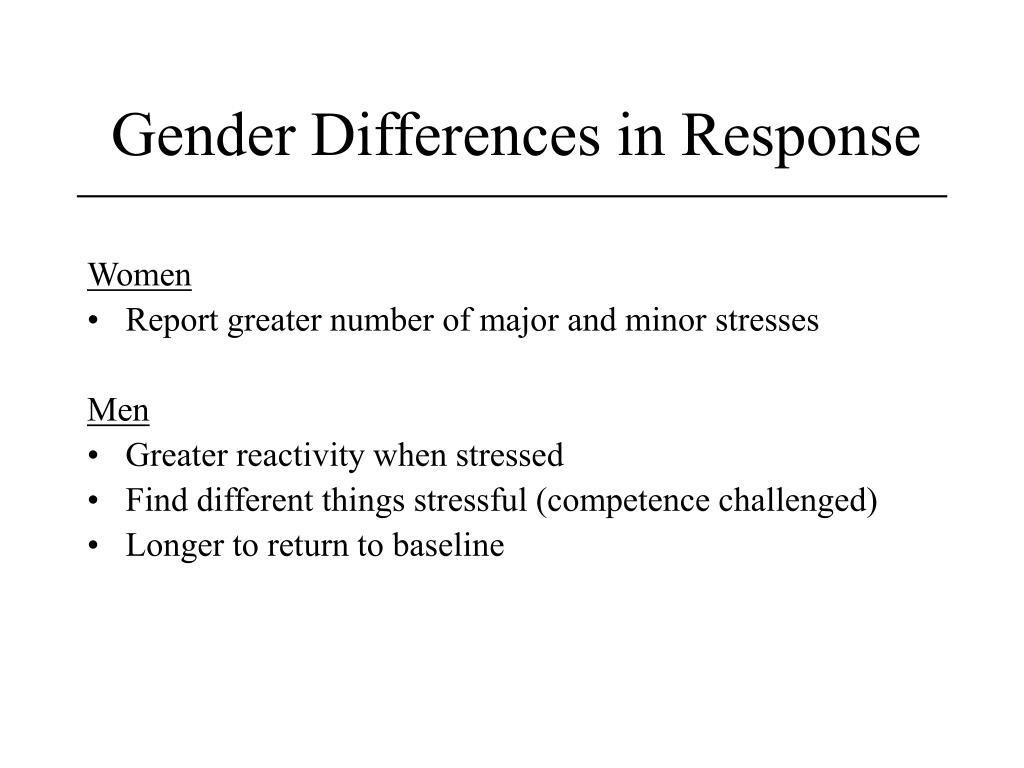 Gender Differences in Response