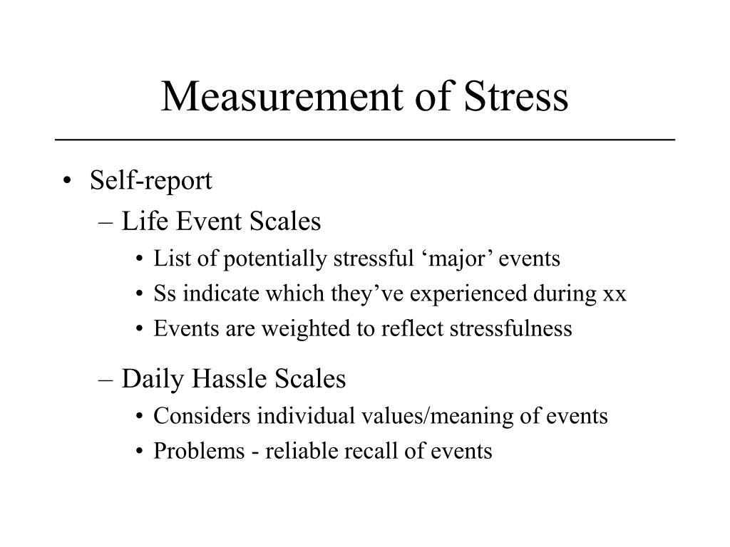Measurement of Stress