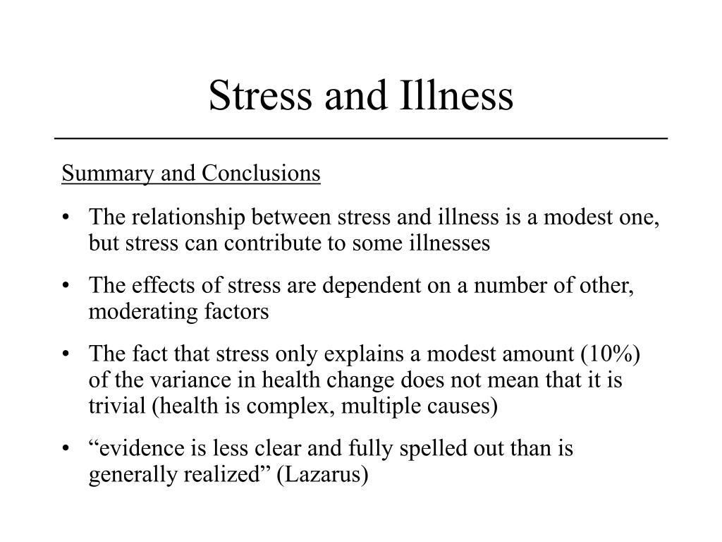 Stress and Illness