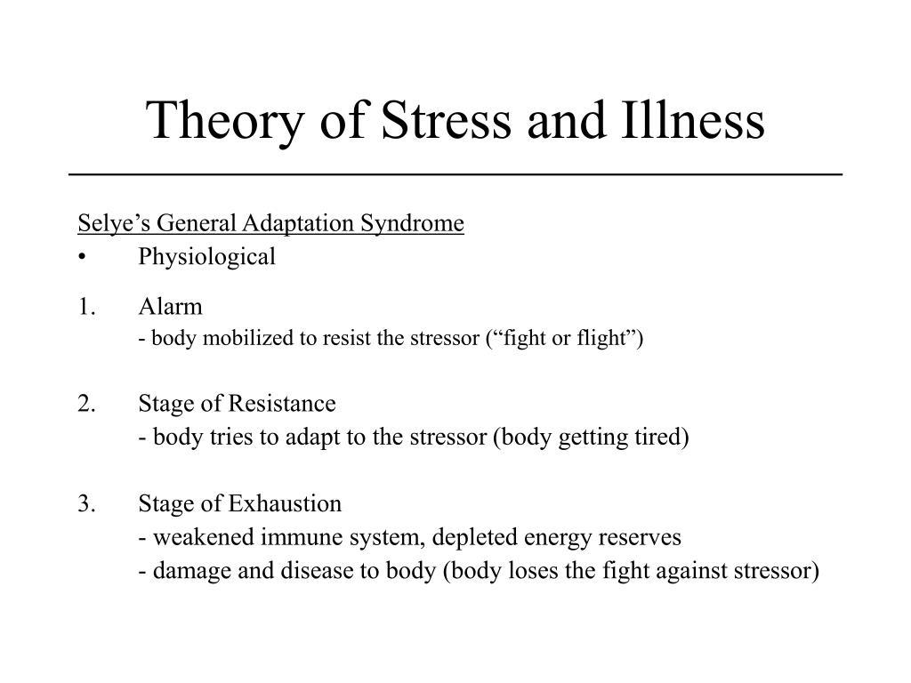 Theory of Stress and Illness