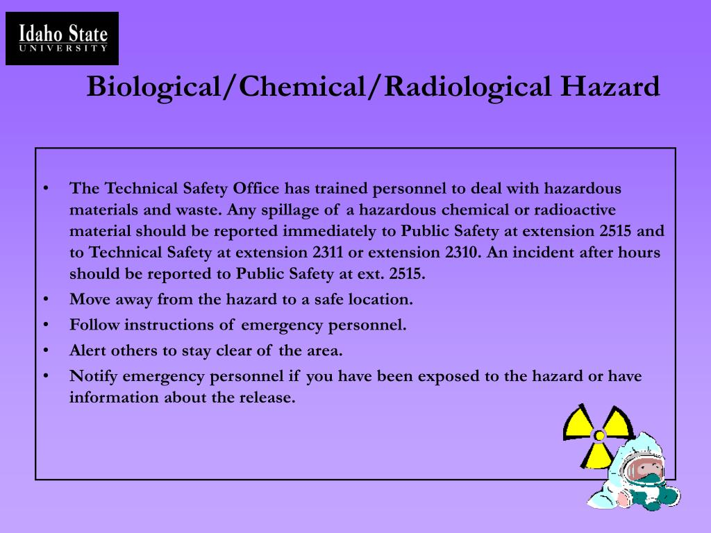 Biological/Chemical/Radiological Hazard