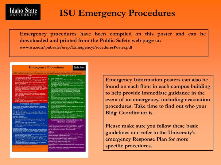 Isu emergency procedures