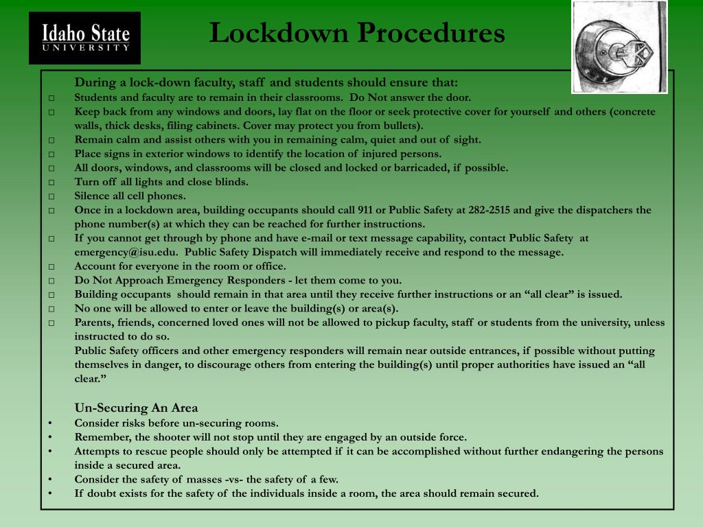 Lockdown Procedures