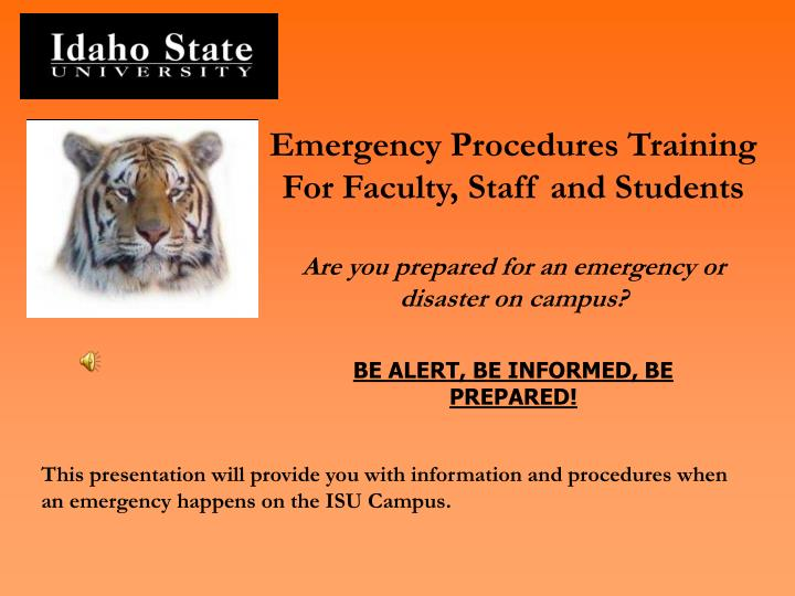 Emergency Procedures Training