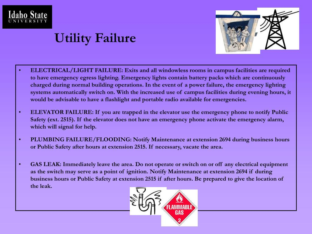 Utility Failure