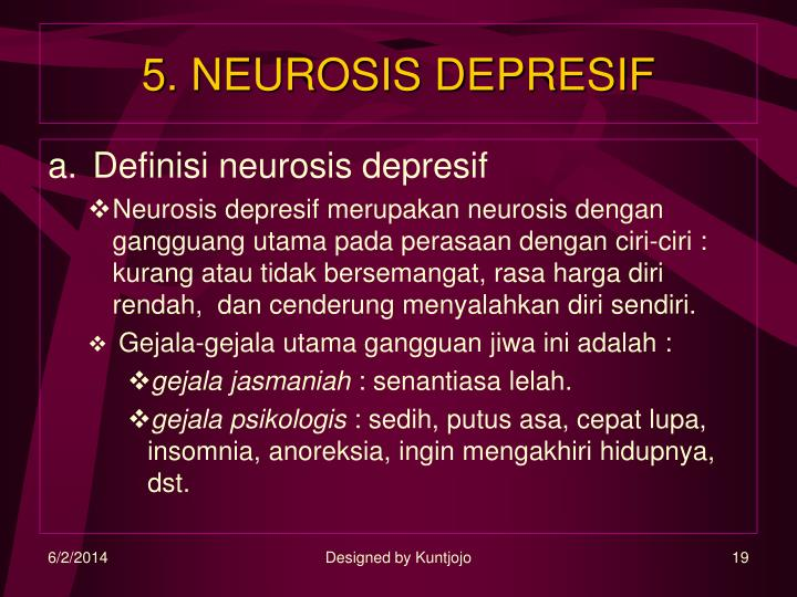 5. NEUROSIS DEPRESIF