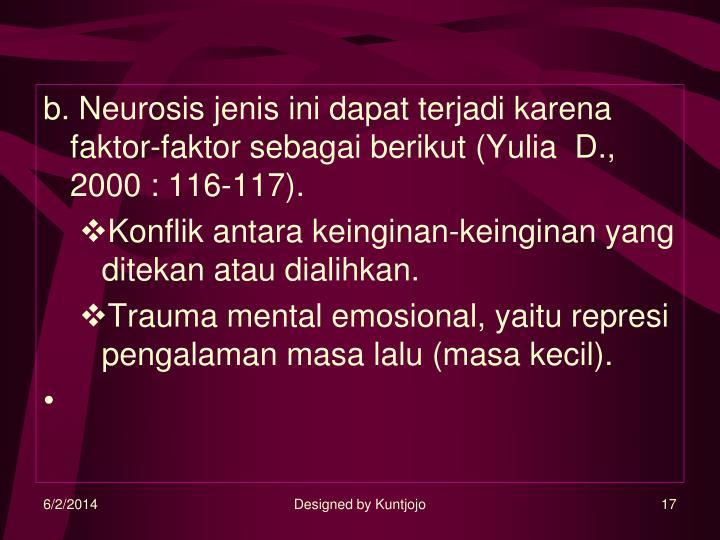 b. Neurosis