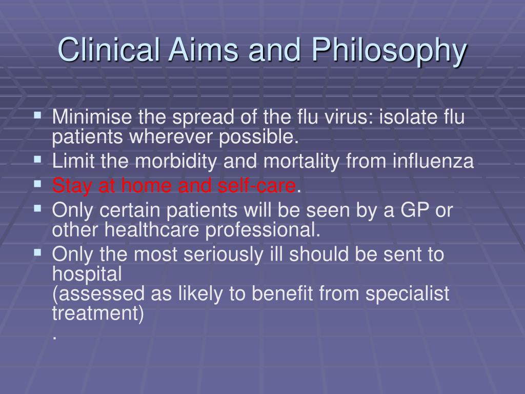 Clinical Aims and Philosophy