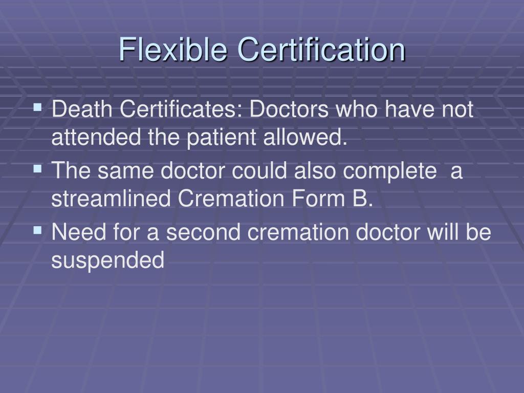 Flexible Certification
