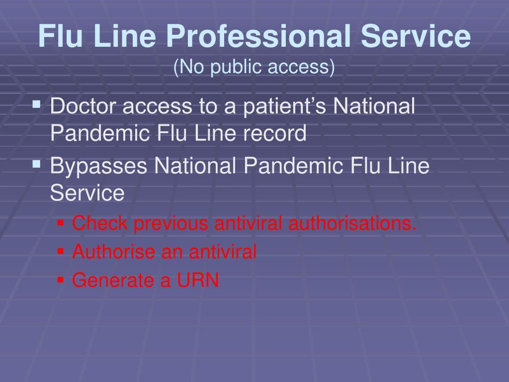 Flu Line Professional Service