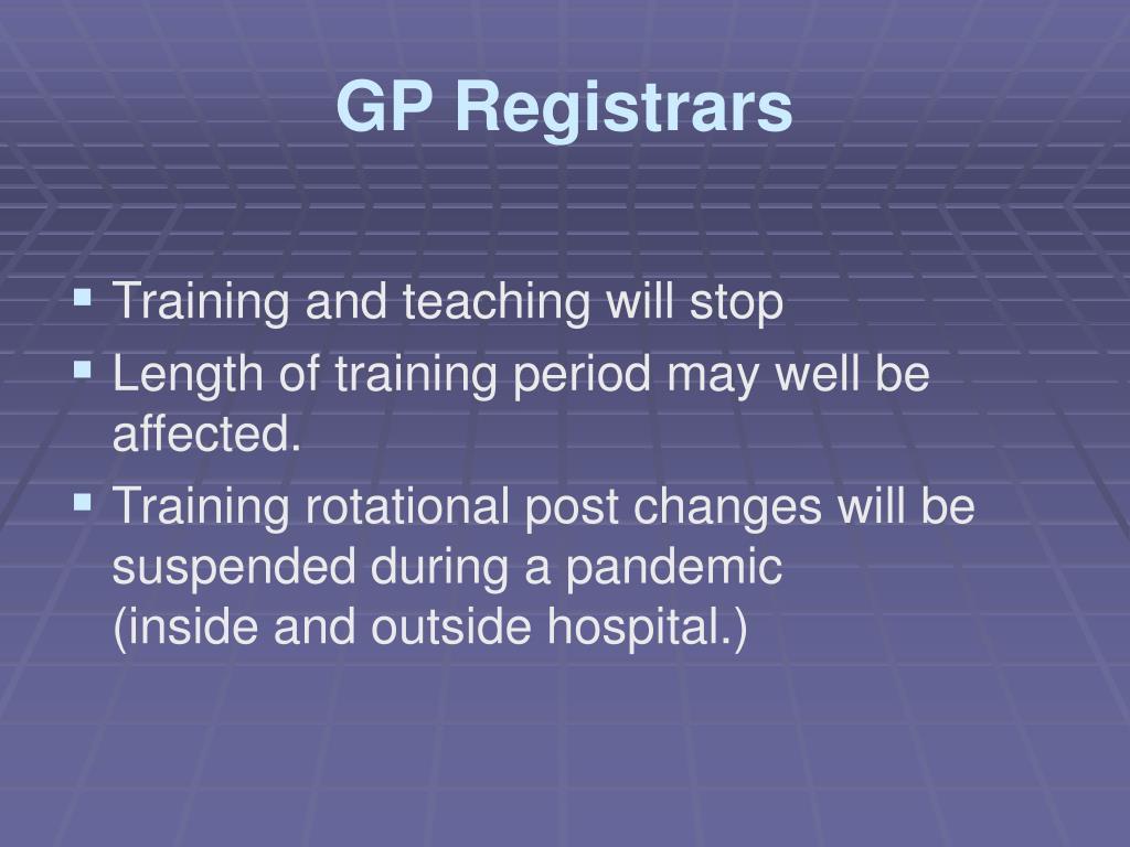 GP Registrars