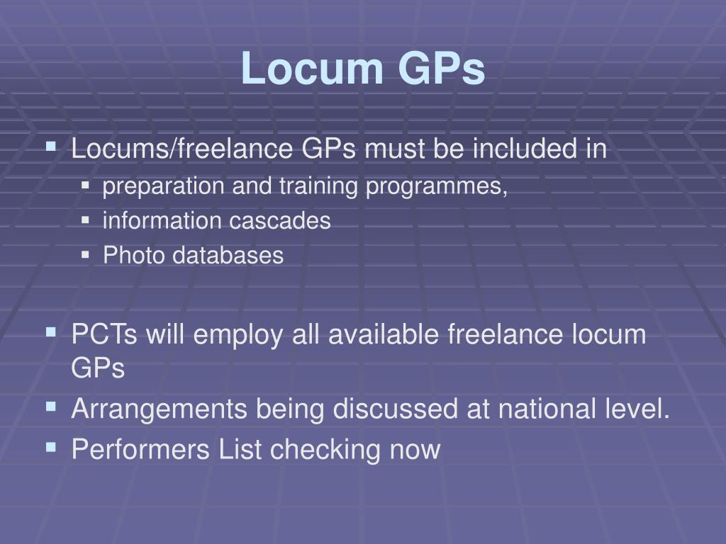Locum GPs