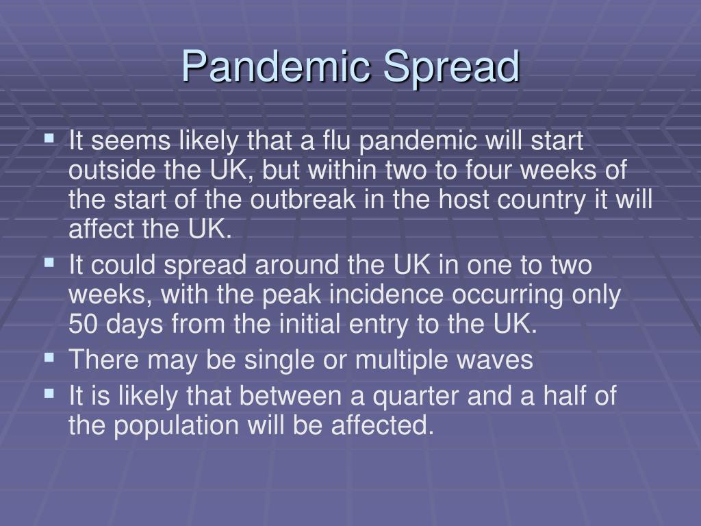 Pandemic Spread